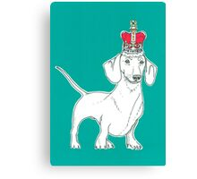Dachshund In A Crown Canvas Print