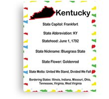 Kentucky Information Education Canvas Print