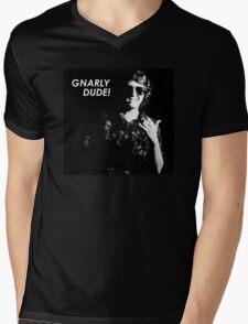 Gnarly Dude Mens V-Neck T-Shirt