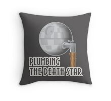 Plumbing the Death Star Throw Pillow