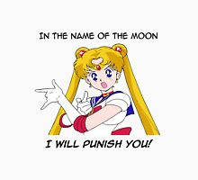 Sailor Moon punish in the name of the Moon Womens Fitted T-Shirt