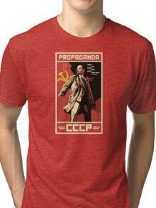CCCP Lenin vintage propaganda Tri-blend T-Shirt