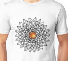 Mandala with Amber Gemstone Unisex T-Shirt