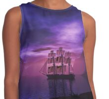 Clipper Ship at Sunset Contrast Tank