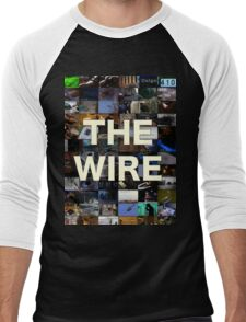 The Wire Television Poster Men's Baseball ¾ T-Shirt