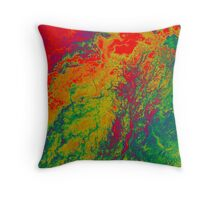 Niger River Inland Delta Mali False Color Satellite Image Throw Pillow