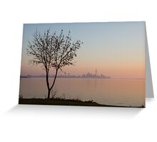 Soft, Pink Morning on the Lake Shore Greeting Card