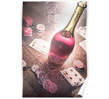 Cards, Flames, and Wine  Poster