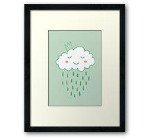 Smiling cloud Framed Print
