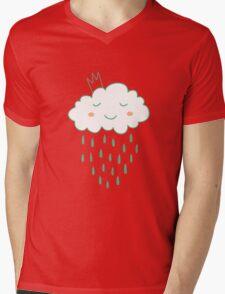 Smiling cloud Mens V-Neck T-Shirt