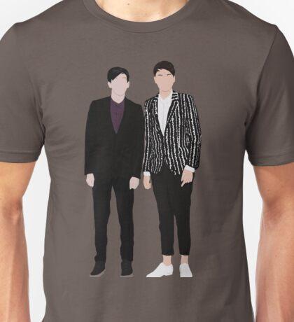 Fancy Dan & Phil Silhouettes Unisex T-Shirt