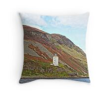 Holy Isle Outer Lighthouse Scotland Throw Pillow