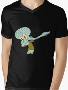 DABBING SQUIDWARD Mens V-Neck T-Shirt