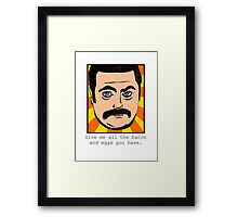 Swanson Framed Print
