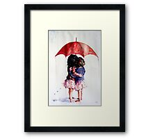 umbrella girls Framed Print