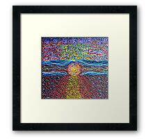 Sunset - Hand Painted Framed Print