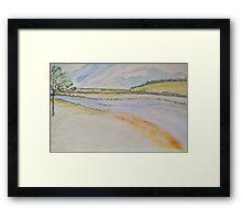 Low river Framed Print