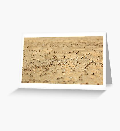 Miniatures on the sand Greeting Card