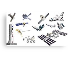 Spacecraft - Space Vehicles - The Kids' Picture Show - 8-Bit Canvas Print
