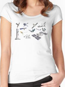 Spacecraft - Space Vehicles - The Kids' Picture Show - 8-Bit Women's Fitted Scoop T-Shirt