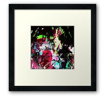 Black and Neon Abstract Framed Print