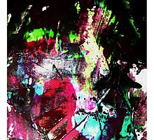 Black and Neon Abstract Photographic Print
