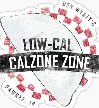 Ben Wyatt's Low-Cal Calzone Zone Sticker