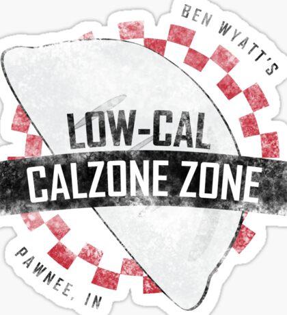 Ben Wyatt's Low-Cal Calzone Zone Sticker