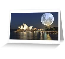 Super moon over the Sydney Opera House Australia Greeting Card