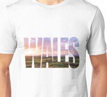 Wales Sunset Word Art Unisex T-Shirt
