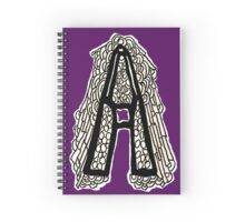 Black and white Letter A Spiral Notebook