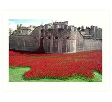 Tower of London Remembers WWI Art Print