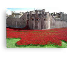 Tower of London Remembers WWI Canvas Print