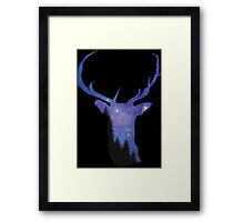 STAG NIGHT PRINT Framed Print