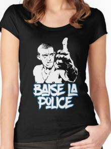 la haine the hate anti police acab movies film france french paris hip hop Women's Fitted Scoop T-Shirt