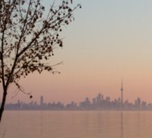 Soft, Pink Morning on the Lake Shore Sticker