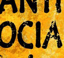 Anti-Social person Sticker