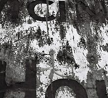 old fading sign by sledgehammer