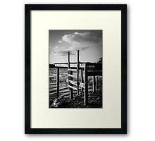 Black and White Old Time Dock Framed Print
