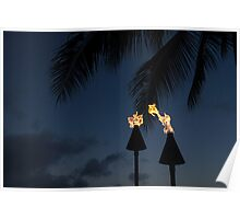 Of Tiki Torches, Palm Trees and Beach Parties Poster