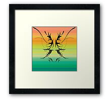 Sunset Rorschach Framed Print
