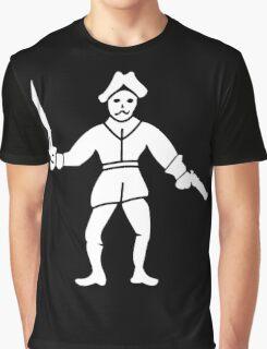 Philip Lyne Pirate Flag Graphic T-Shirt