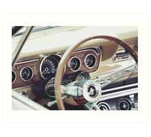 Classic Ford Mustang Dashboard Art Print