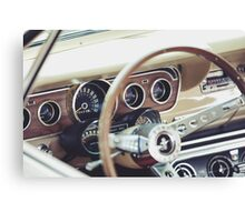 Classic Ford Mustang Dashboard Canvas Print