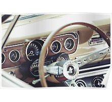 Classic Ford Mustang Dashboard Poster