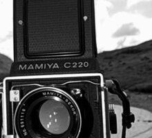 Mamiya C220 on Location. Sticker