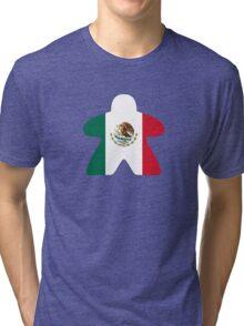 Mexican Meeple Design Tri-blend T-Shirt