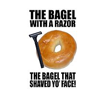 the bagel that shaved your face Photographic Print