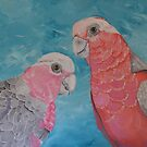 TWO PINK GALAHS by jansimpressions