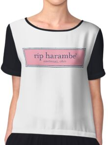 RIP Harambe Vineyard Vines Chiffon Top
